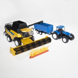CR9090 leikkuupuimuri + T7000 traktori
