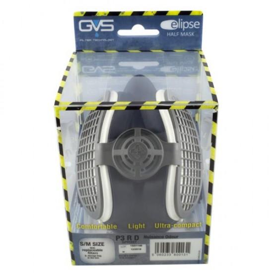 GVS Elipse Hengityssuojain P3 RD NO vaihdettavilla hiukkassuodattimilla hajunpoisto, Sininen M-L