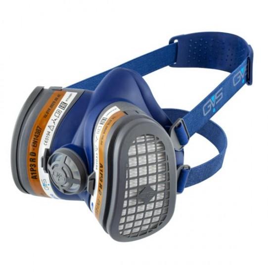 GVS Elipse Hengityssuojain A1P3 RD vaihdettavilla hiukkas- ja kaasusuodattimilla, Sininen M-L