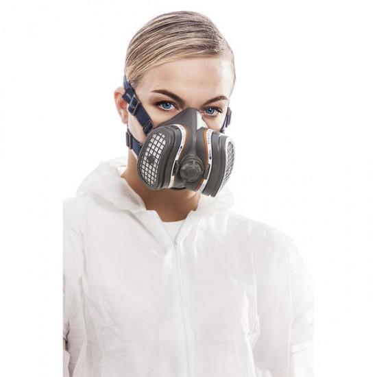 GVS Elipse Hengityssuojain FFA1P3 RD kiinteällä  hiukkas- ja kaasusuodattimella huoltovapaa, Sininen M-L