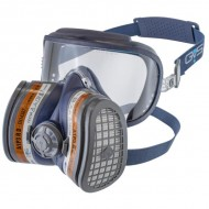 GVS Elipse Integra Hengityssuojain A1P3 RD vaihdettavilla hiukkas- ja kaasusuodattimilla, Sininen M-L