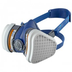 GVS Elipse Hengityssuojain A2P3 RD vaihdettavilla hiukkas- ja kaasusuodattimilla, Sininen M-L
