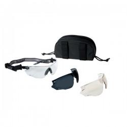 Bollé Tactical Combat Kit Aurinko-/suojalasipakkaus, ballistinen suojaus, nauha + kotelo + 3x linssit