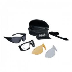 Bollé Tactical Raider Kit Aurinko-/suojalasipakkaus, ballistinen suojaus, 3x linssit/ panta/ linssiadapteri/ kotelo, Musta