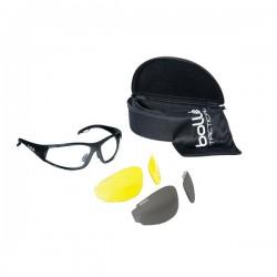 Bollé Tactical Rogue Kit Aurinko-/suojalasipakkaus, ballistinen suojaus, 3x linssit/ pussi/ kotelo, Musta