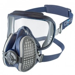 GVS Elipse Integra Hengityssuojain P3 RD NO vaihdettavilla hiukkas- ja kaasusuodattimilla hajunpoisto, Sininen S-M