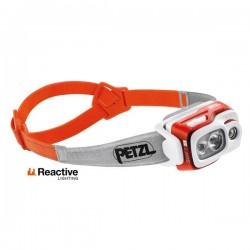 Petzl Swift RL LED Reaktiivinen otsavalaisin akulla 150m/50h, Oranssi/Harmaa 900lm