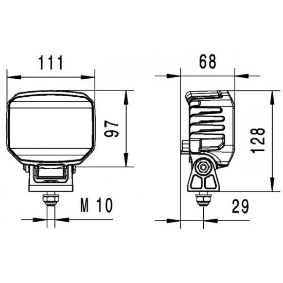 HELLA PowerBeam 1800 Compact Työvalo lähialueen kuvio